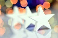 Julsymbol på bokehbakgrund Royaltyfri Foto