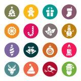 Julsymboler. stock illustrationer