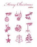Julsymboler Arkivbild