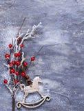 Julsymboler och garneringar Arkivfoto