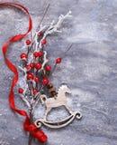 Julsymboler och garneringar Royaltyfri Foto