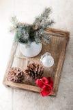 Julsymboler på en vit bakgrund Arkivbild