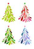 julsymboler ställde in treen Royaltyfria Foton