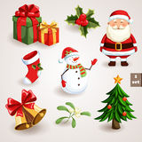 Julsymbolsuppsättning - 1 Royaltyfria Bilder
