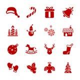 Julsymbolsuppsättning, vektor eps10 stock illustrationer