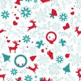 Jultappning, blom- texturelegants för sömlös modell som är orange stock illustrationer