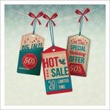 Jultappningetiketter med rabatter Royaltyfria Bilder