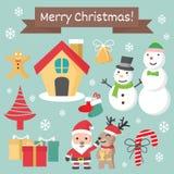 Julteckenet - ställ in, den Chirstmas tecknad filmsamlingen Royaltyfri Bild