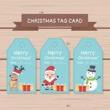 Julteckenet - ställ in, den Chirstmas tecknad filmsamlingen Design för juletikettskort för bruk Royaltyfria Foton
