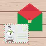 Julteckenet - ställ in, den Chirstmas tecknad filmsamlingen Design för juletikettskort för bruk Malljulbokstav till gulligt Arkivfoto