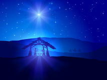 Jultema med stjärnan Royaltyfria Bilder