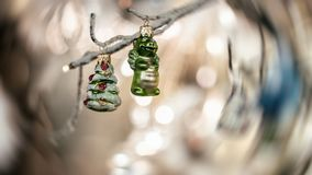Jultema som tas som en detaljbakgrund arkivfoto