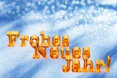 Jultext för nytt år på tyskt språk Royaltyfria Bilder