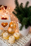 Jultidgarnering Fotografering för Bildbyråer