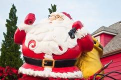 Jultomte på juldag Arkivfoto