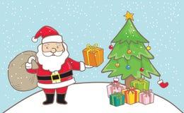 Jultomte tecknad film Arkivbilder