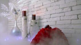 Jultomten är det kommna jul och nya året stock video