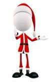 jultomten 3d med tummar poserar upp stock illustrationer