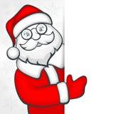 Jultomten förbigår tecknet Arkivfoton
