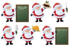 Jultomten festmåltid stock illustrationer