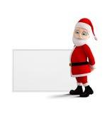 Jultomten framlägger glad jul Fotografering för Bildbyråer