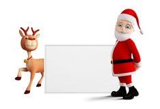 Jultomten framlägger glad jul Royaltyfria Bilder