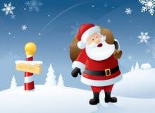 Jultomten grund vektor illustrationer