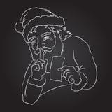 Jultomten håller hemlighet Arkivfoton