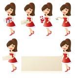 Jultomten hjälpredauppsättning royaltyfri illustrationer