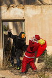 Jultomten i problem royaltyfri fotografi