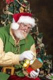 Jultomten i seminarium Royaltyfri Bild