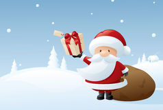Jultomten jobb Arkivbild