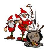 Jultomten juldrink Fotografering för Bildbyråer