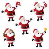 Jultomten julsysslor stock illustrationer