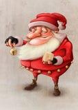 Jultomten klocka Arkivbilder