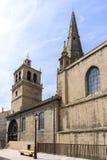 Jultomten MarÃa de Palacio Kyrktaga, i Logroño spain arkivbild