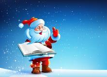 Jultomten med boken Royaltyfri Foto