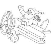 Jultomten på den plana färgläggningsidan Royaltyfria Bilder