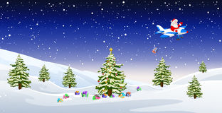 Jultomten på nivån Royaltyfri Bild