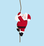 Jultomten på repet stock illustrationer