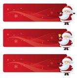 Jultomten röda baner stock illustrationer