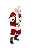 Jultomten: Santa Does Ninja Pose Royaltyfria Foton