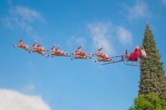 Jultomten släde Royaltyfri Bild
