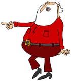 Jultomten som går och pekar vektor illustrationer