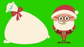 Jultomten som skrattar på gräsplan lager videofilmer