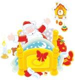 Jultomten som vaknar upp Royaltyfri Fotografi
