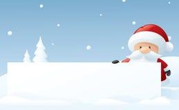 Jultomten stora meddelande stock illustrationer
