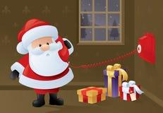 Jultomten telefonbeställningar vektor illustrationer