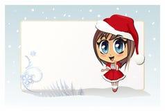 Jultomtenflicka (julflickan) Arkivfoton