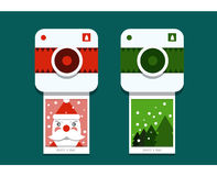 Jultomtenfotofors Arkivbilder